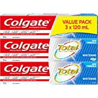 Colgate Total Toothpaste, Whitening, 3 X 120 mL