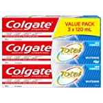 Colgate Total Whitening Gel Toothpaste, 3 x 120 mL