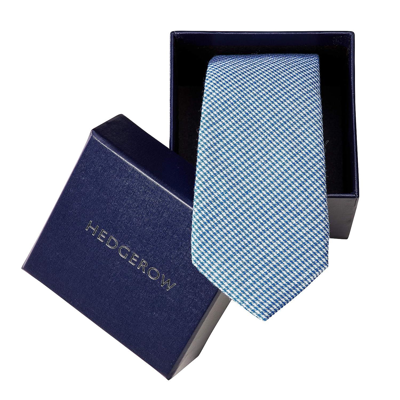 Hedgerow Krawatte aus 100% Baumwolle, Baumwoll-Schlips, Slim, Handgefertigt, verschiedene Farben und Muster