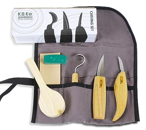 Kit de herramientas de tallado de madera y juego de ...