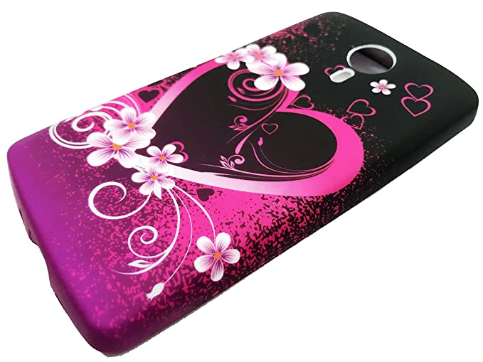 For ZTE Quest Legacy Virgin Assurance QLink N817 N-817 Soft Flexi TPU Skin  Protective Case Phone Cover + Gift Stand (TPU Pink Love Heart)