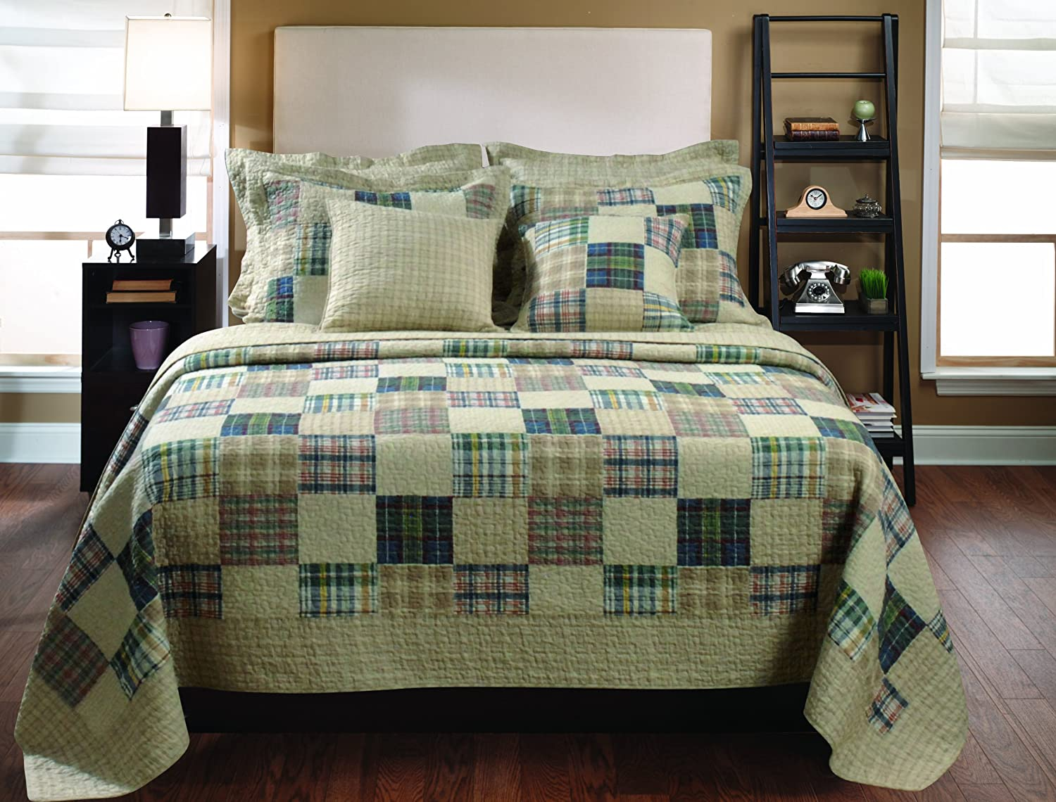 Greenland Home 3-Piece Oxford Quilt Set