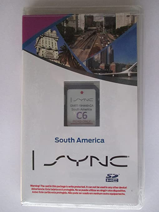 C6 SOUTH AMERICA Ford Lincoln Navigation SD CARD,SYNC MyFord Touch,Focus Fusion Fiesta C-Max Mustang Taurus Edge Explorer escape F150 GM5T-19H449-CA ...