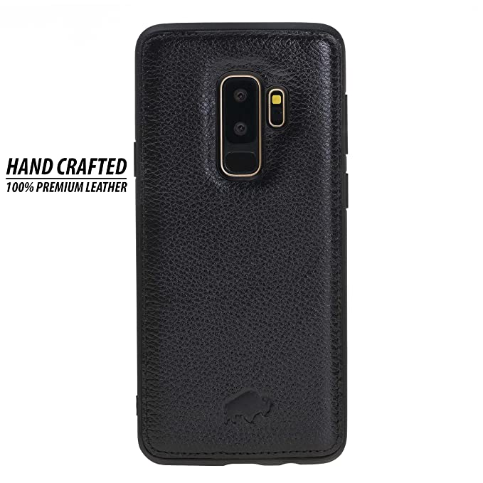 wholesale dealer add73 a05a8 Samsung Galaxy S9 PLUS Leather Case by Burkley, 360 Degree Leather Snap On  Back Cover for Samsung Galaxy S9 PLUS | All Side Protection | Hand-wrapped  ...