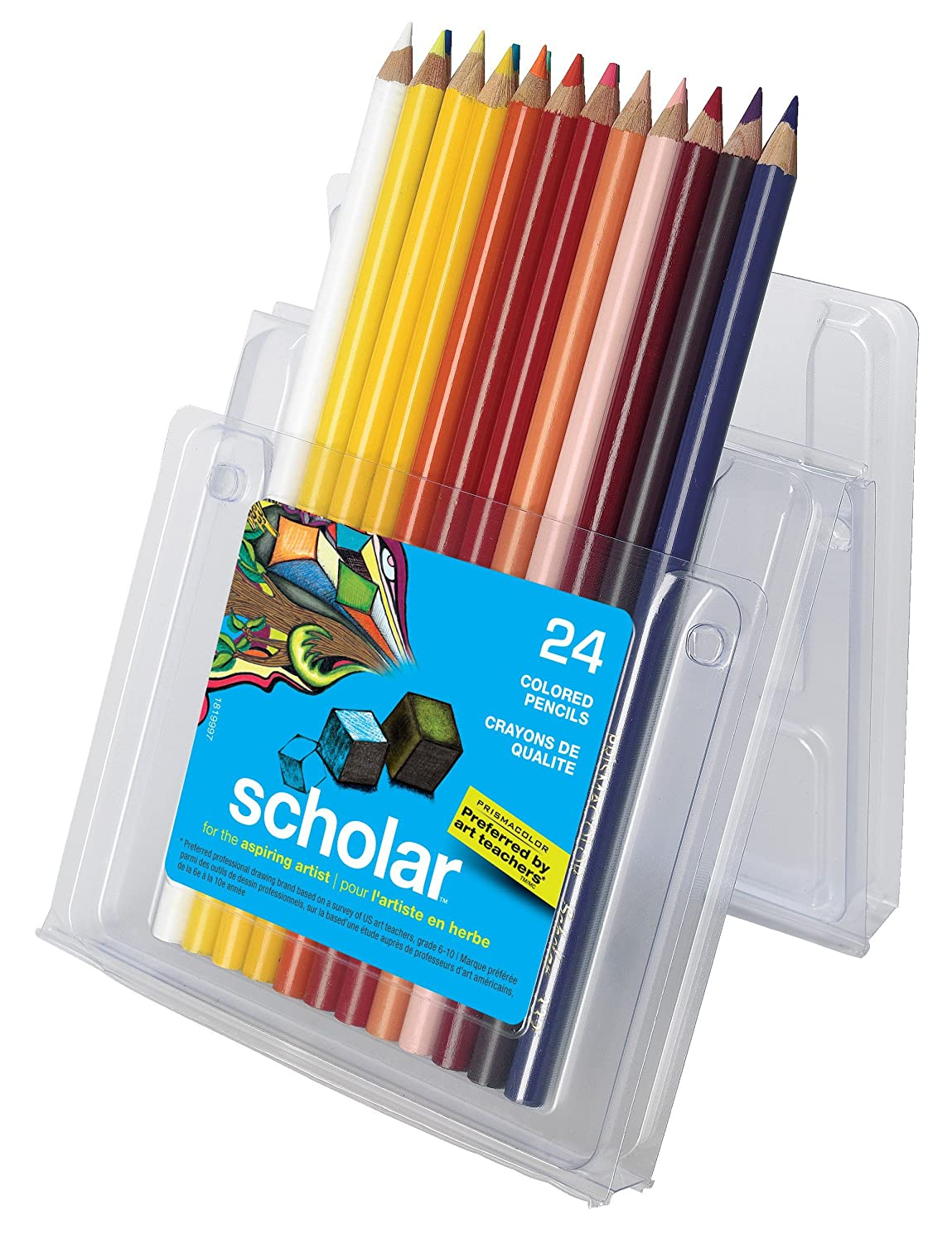 Prismacolor Sanford Scholar Colored Pencils, 24-Count