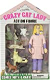 Accoutrements 12470 Crazy Cat Lady Action Figure Set, Multicolor