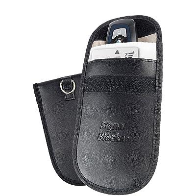 Anti Theft Car Faraday Key Fob Protector - Pocket Friendly RFID Signal Blocking Faraday Bag: Car Electronics