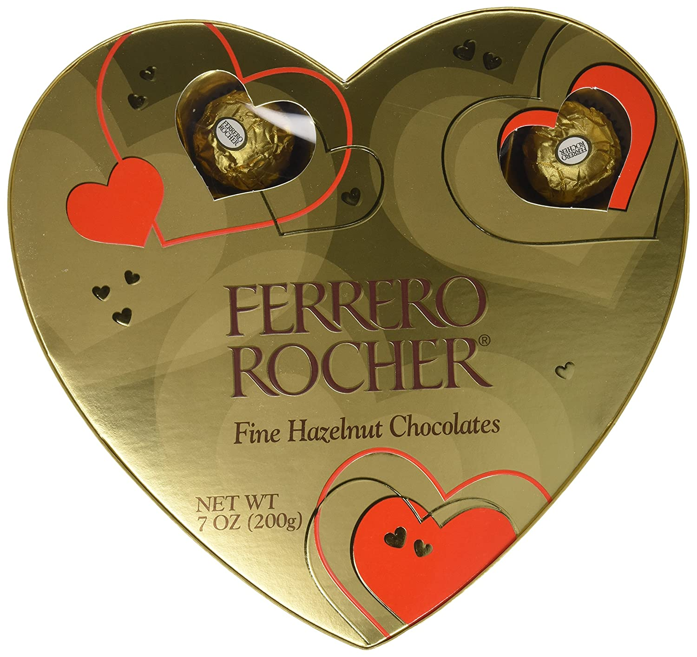 Ferrero Rocher Heart Gift Box, 16 Count, 7 Oz