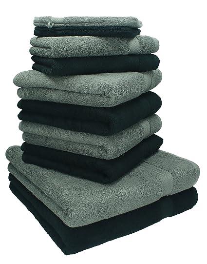 Betz Juego de toallas de 10 piezas 2 toallas de baño 4 toallas de mano 2