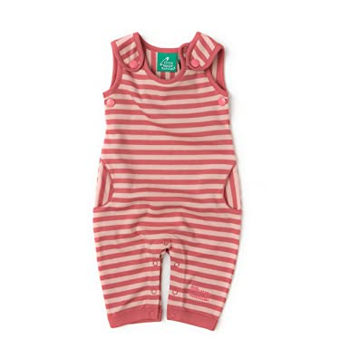 b0e4312bd Little Green Radicals Baby Girls Sunset Pink Stripe Dungarees ...