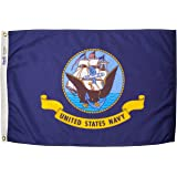 U.S. Navy Military Flag 2x3 ft. Nylon SolarGuard Nyl-Glo 100% Made in USA to Official Specifications. Annin Flagmakers is an Officially Licensed Manufacturer. Model 439029