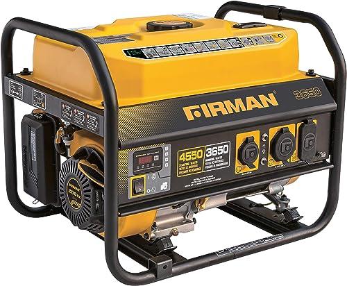 Firman P03607 4550 3650 Watt Gas Recoil Start Generator, CARB