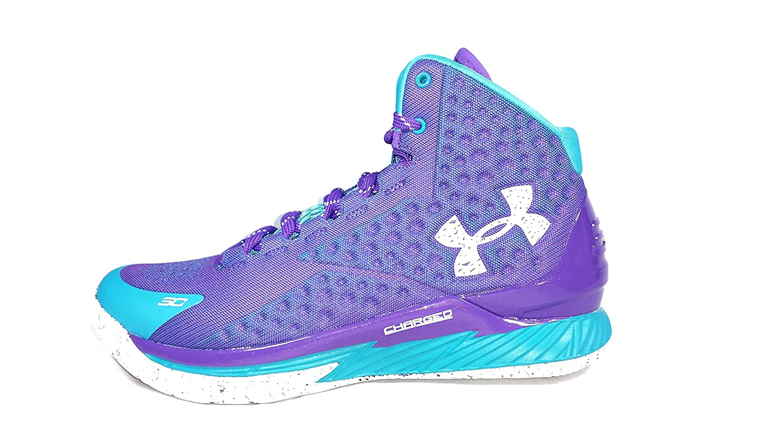 Curry 1 Father to Son Mens Sz 11 Purple Teal 1258723-478