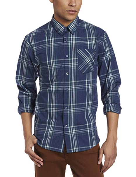 Amazon.com: Volcom Why Factor Plaid – Chaqueta de manga ...