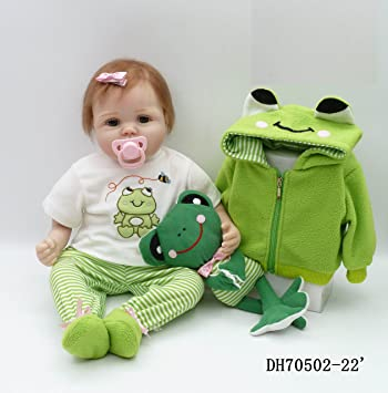 """Amazon.com: 22"""" 55 cm Real Looking Lovely Cute Reborn ..."""