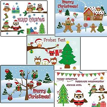 Buhos Buho 50 Unidades Tarjetas De Navidad Tarjetas Postales - Motivos-navidad