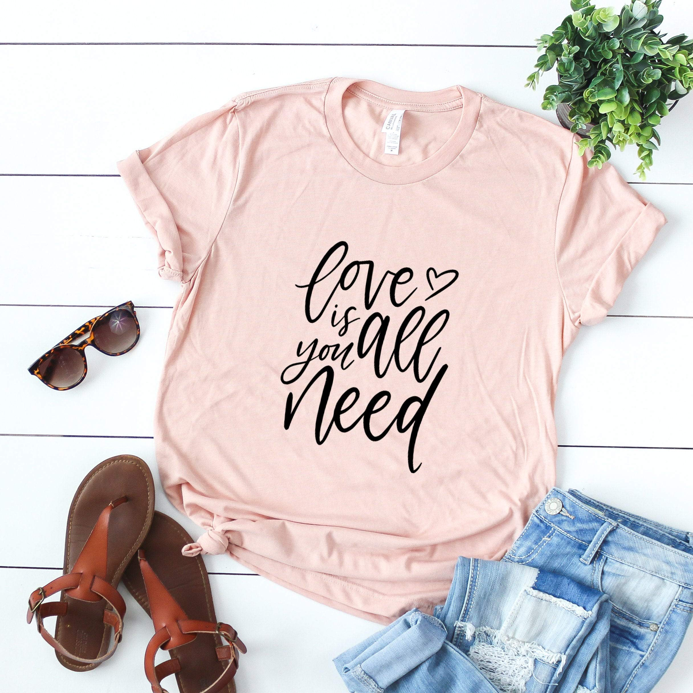 Beatles Love Is All You Need Valentines Day Gift For Her All You Need Is Love Girlfriend Gift Beatles For T Shirt
