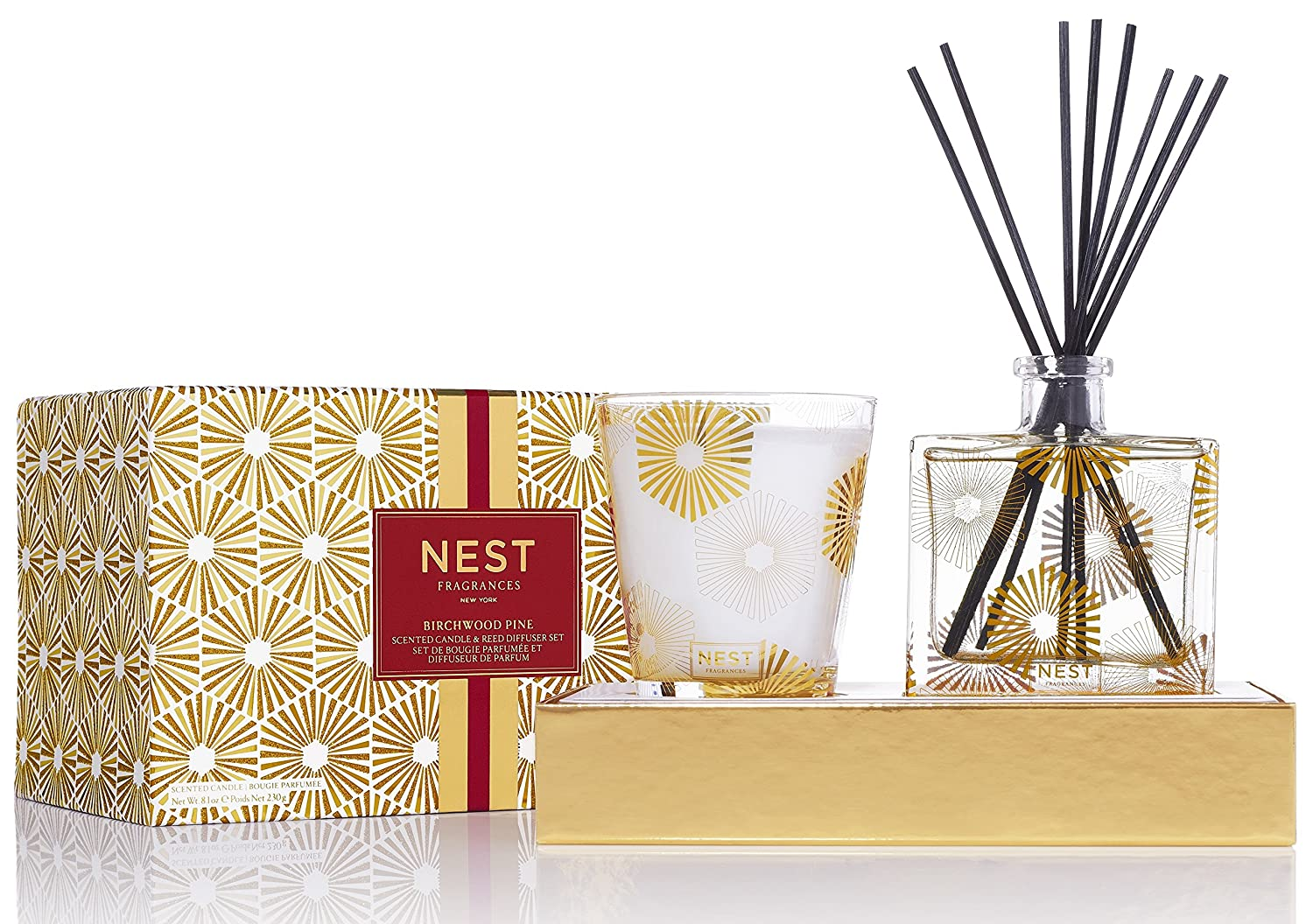 NEST Fragrances Classic Candle & Reed Diffuser Set- Birchwood Pine NEST58BP001