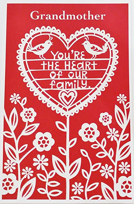 Grandmother Youre The Heart Of Our Family Happy Valentines Day Greeting Card