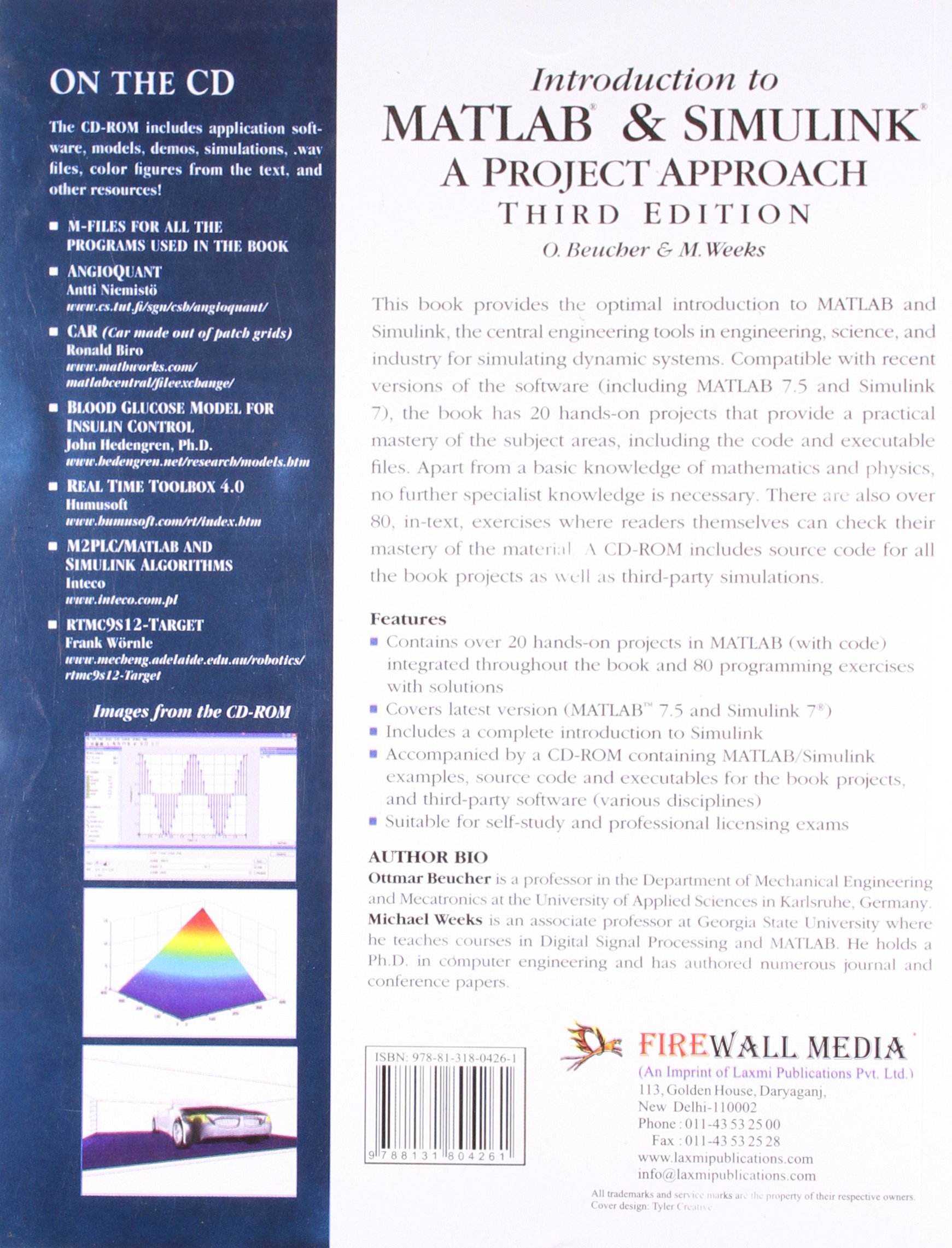 Buy Introduction to MATLAB & SIMULINK: A Project Approach