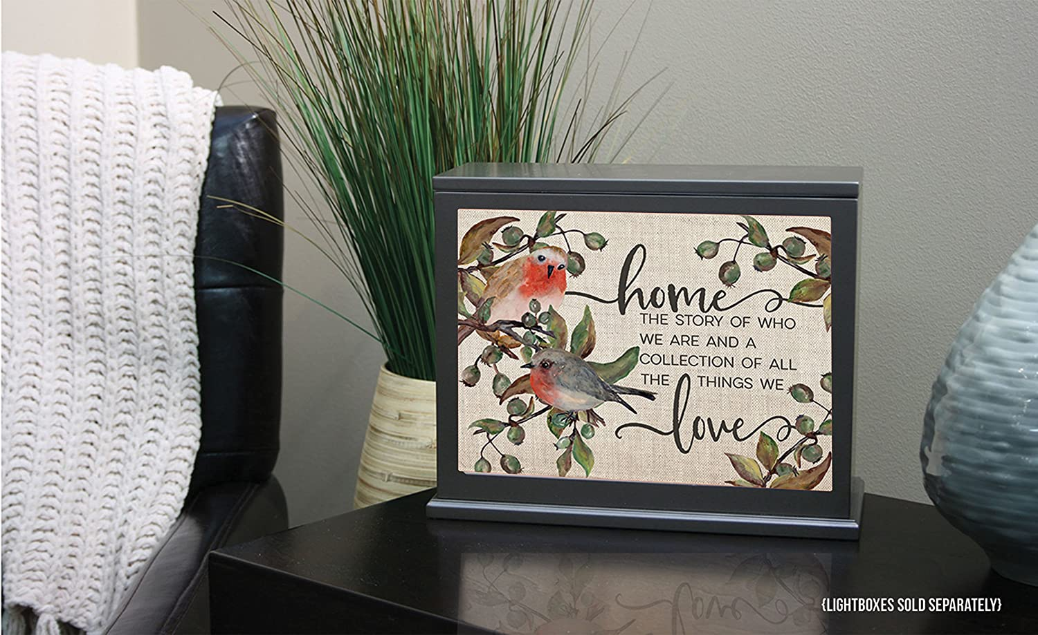 Kindred Hearts Home The Story of Who Lightbox-Insert Multicolor 9 3//4 x 7 1//2