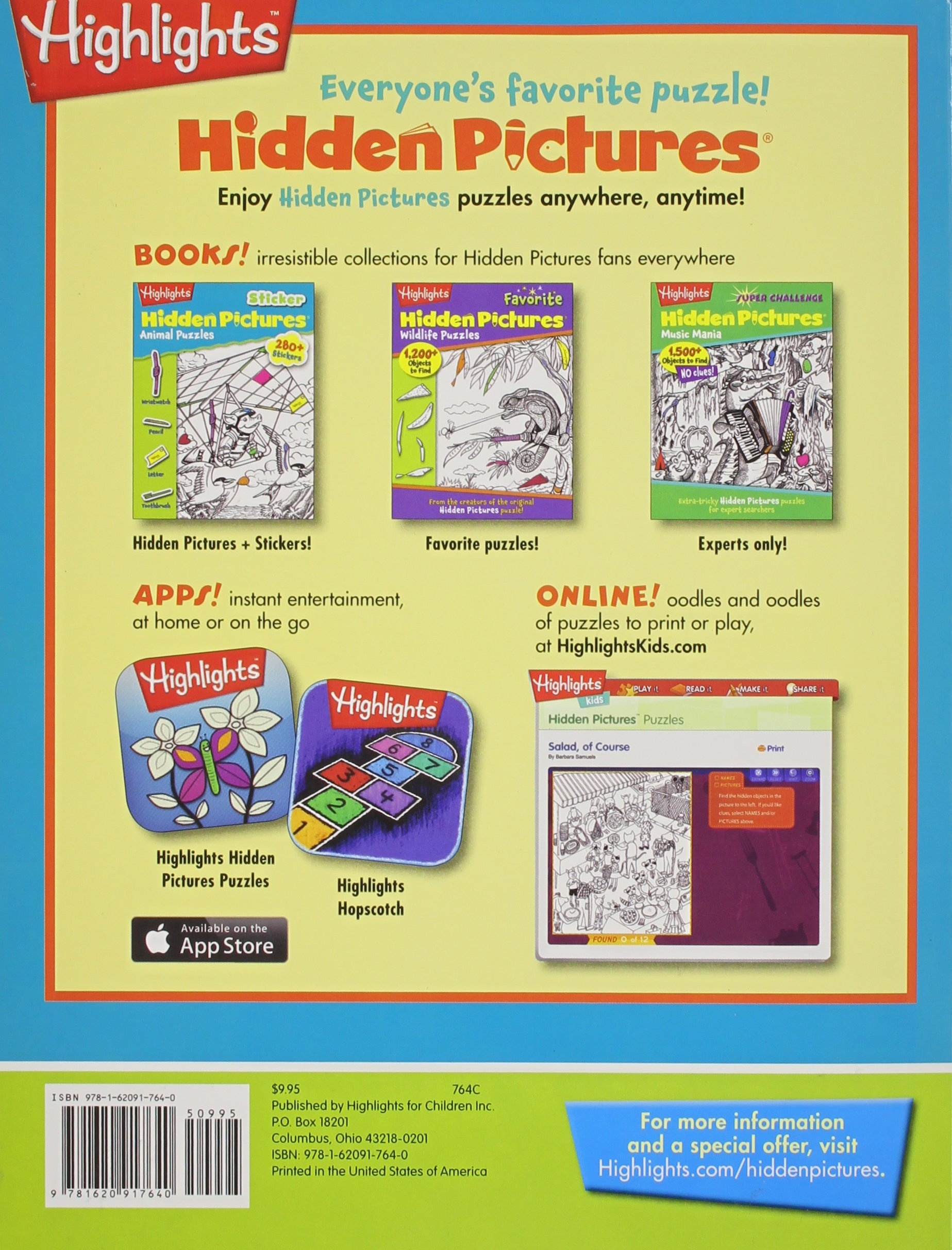 adventure puzzles highlights tm sticker hidden pictures