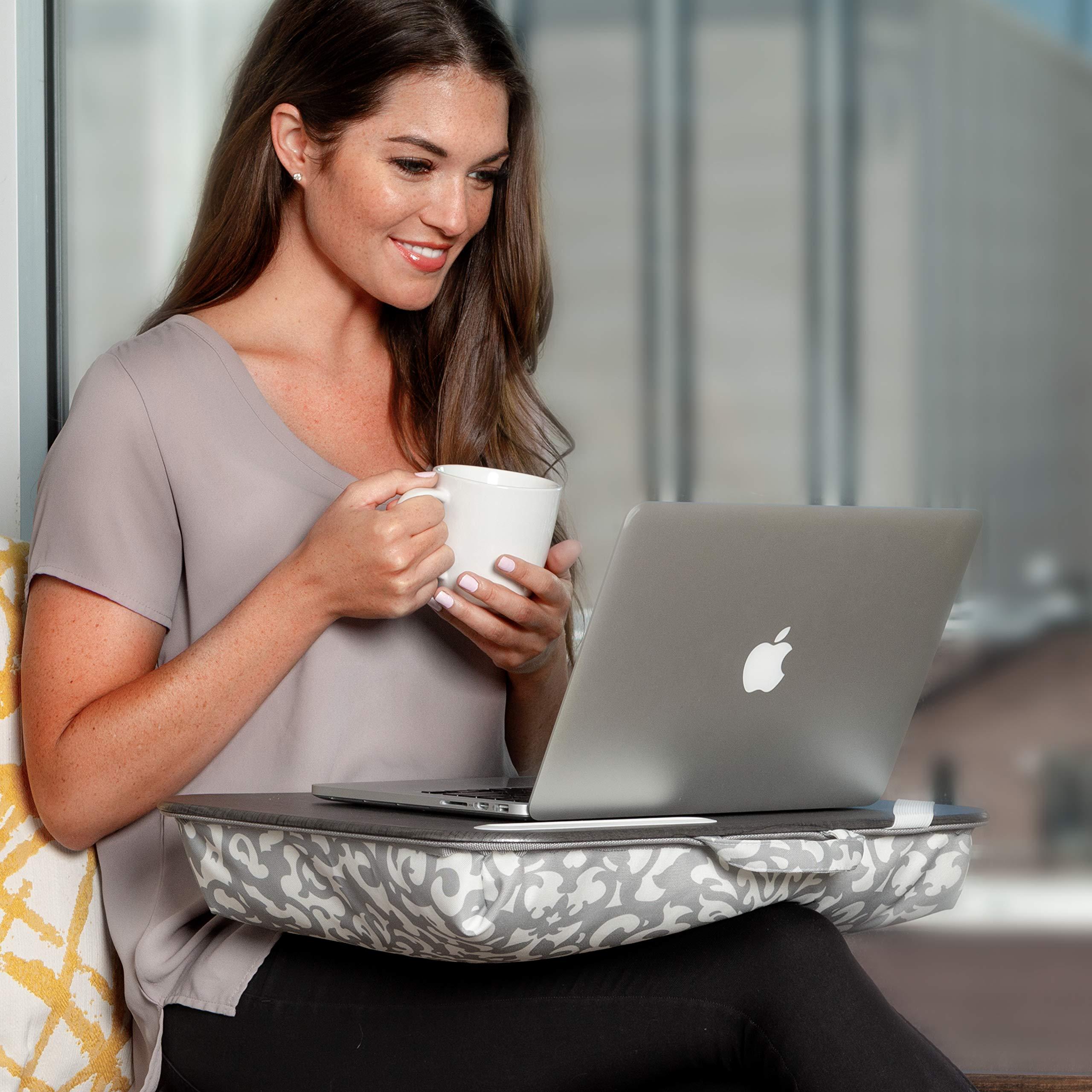 LapGear Designer Lap Desk - Aqua Trellis (Fits up to 15.6'' Laptop) - Style #45422 by Lap Desk (Image #5)