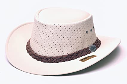 392bd39e224 Image Unavailable. Image not available for. Color  Aussie Chiller Outback  Bushie Golf Hat - White Pearl ...