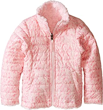 84c65e81b6a8 The North Face Reversible Mossbud Swirl Jacket Girls' Coy Pink Fur ...