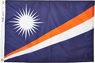 product image for Annin Flagmakers Model 195516 Marshall Islands Flag Nylon SolarGuard NYL-Glo, 2x3 ft, 100% Made in USA to Official United Nations Design Specifications
