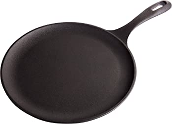 Victoria Ready-To-Use Seasoning Cast-Iron Pancake Griddle
