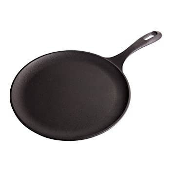 Victoria Cast Iron Comal Griddle - Round Comal Pan, Natural ...