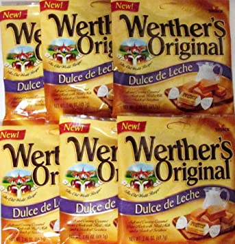 Werthers Original Dulce De Leche Soft and Creamy Caramel Bites 2.46 Oz (69.7g)
