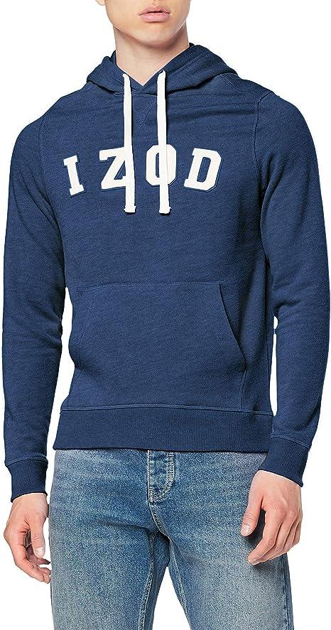 TALLA M. Izod Logo Hoodie Sudadera con Capucha para Hombre