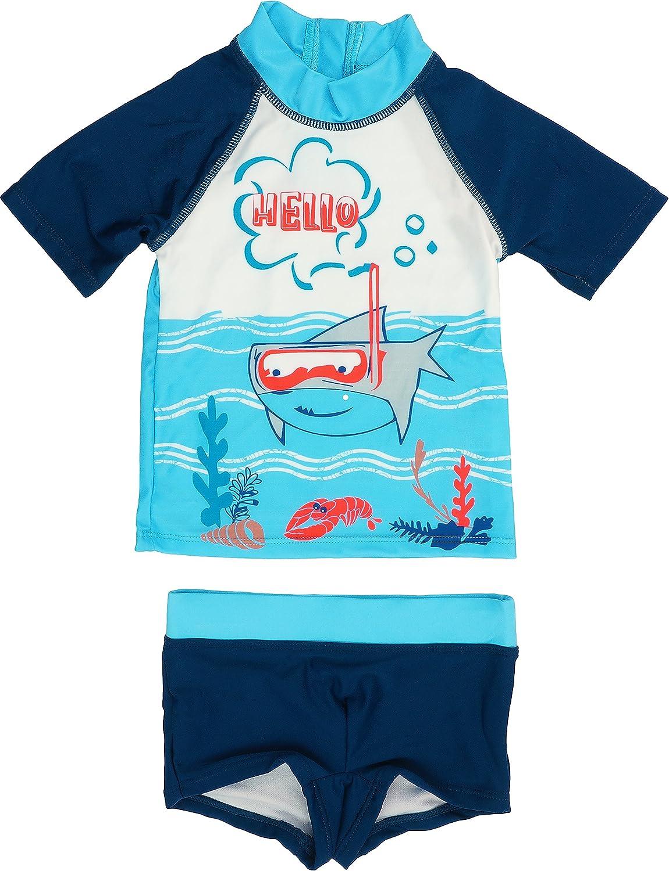 Sharky Petit B/éguin Jungen Badehose Badeshorts Bade-Set UV Schutz 50