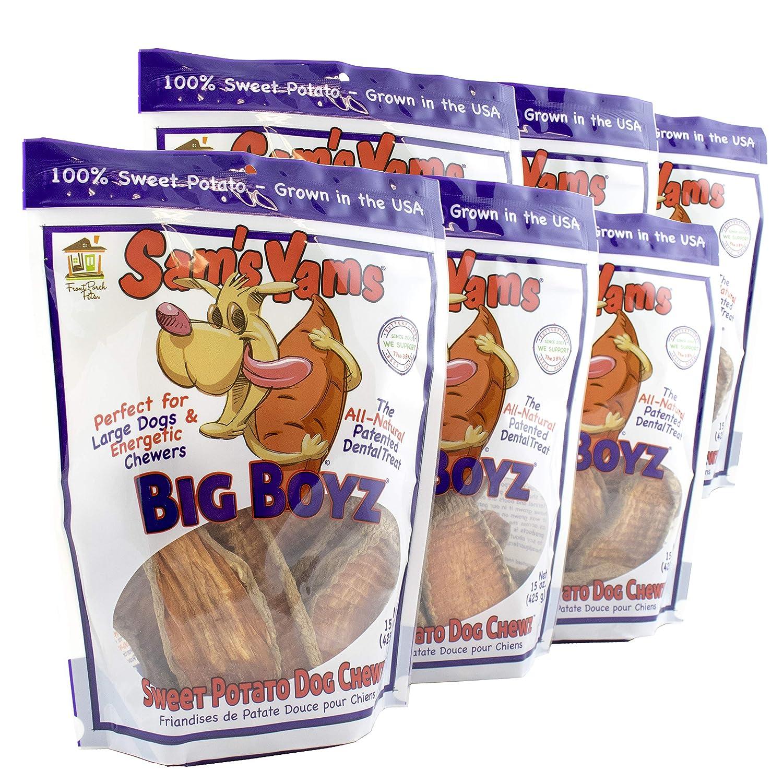 Sweet Potato Dog Chewz – 6 Pack 15 Ounces Each – Value Pack Big Boyz