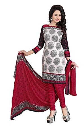 42ff94a7b64d69 Lady Loop Women's Clothing Designer Party Wear buy online Red Color Crepe  Fabric Free Size Salwar