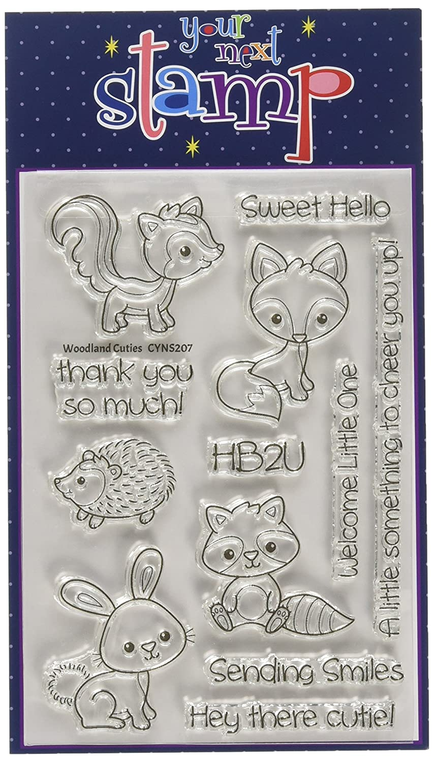 Your Next Stamp Woodland Cuties Clear Stamps, 4 x 6 4 x 6 CYNS207