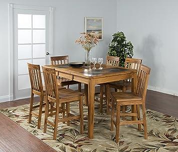 Amazoncom Sunny Designs Sedona 42 Extendable Slate Dining