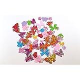 200 Ornamenti di tessuto dai colori PASTELLO di tipologia mista, per Scrapbooking, Artigianato, Cucito, Creazione di biglietti