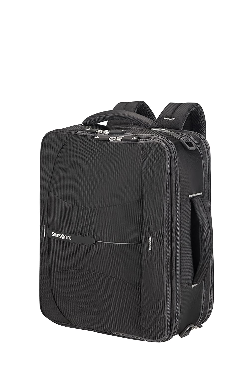 Samsonite 4mation 3-Way Shoulder Bag Exp Mochila Tipo Casual, 36.5 litros, Color Negro/Plateado: Amazon.es: Equipaje