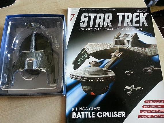 Eaglemoss Star Trek 67 klingon d7 class Battle Cruiser Starship cuaderno OVP 111465