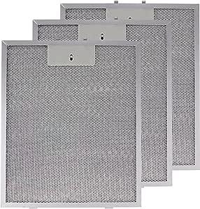 Spares2go Malla Metálica Filtro para Cooke & Lewis/B & Q/cata campana extractor ventilación (Pack de 3 filtros, Plata, 320 x 260 mm): Amazon.es: Hogar