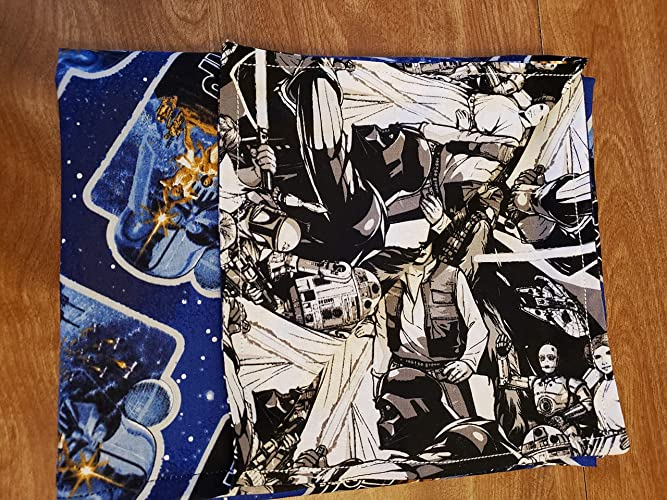 4f0956685ba Star Wars Vintage Characters Two sided Baby Blanket 100% cotton 44 X 35  inches  Amazon.ca  Handmade