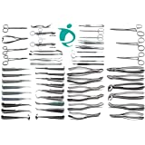 Dental Student Examination Extraction Set of 50 Pcs Forceps Elevators Extraction Surgical Instruments