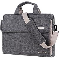 BRINCH Maletín para Ordenadores portátiles maletín Oxford Bolso de Hombro Unisex para Ordenadores de 15 Pulgadas Notebook/MacBook/Chromebook con Tiras para llevarlo al Hombro y Bolsillos,Gris Oscuro