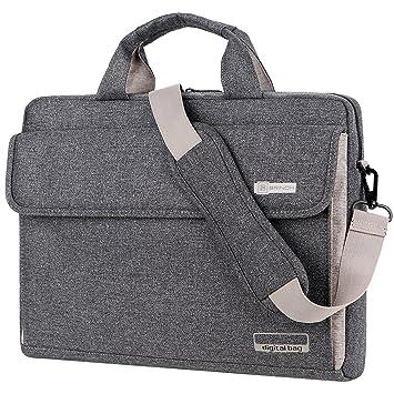Maletín BRINCH para ordenadores portátiles maletín Oxford bolso de hombro Unisex para ordenadores de 15 pulgadas Notebook/MacBook/Chromebook con tiras para ...