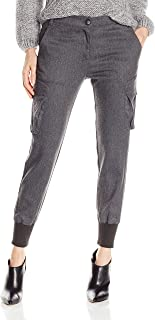 product image for James Jeans Women's Boyfriend Cargo Charcoal Flannel Pant