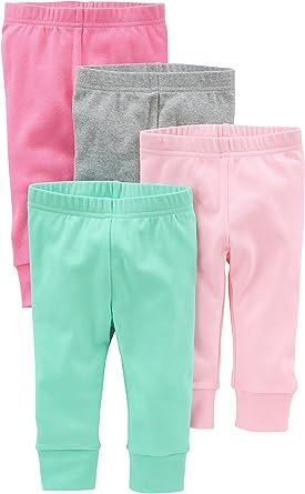 4er-Pack Simple Joys by Carters Baby-M/ädchen 4-Pack Fleece Pants