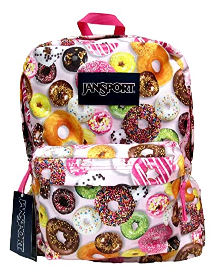 34770129c8eb Image Unavailable. Image not available for. Color  JanSport Classic  Superbreak Backpack (Multi Donuts ...